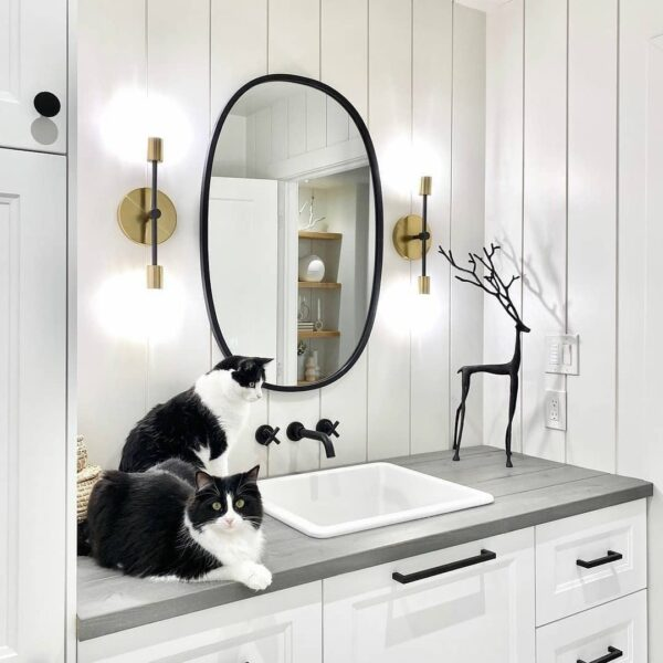 Should bathroom mirror be wider than sink