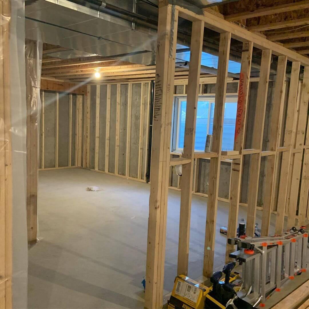 Gap Between Basement Wall and Framing