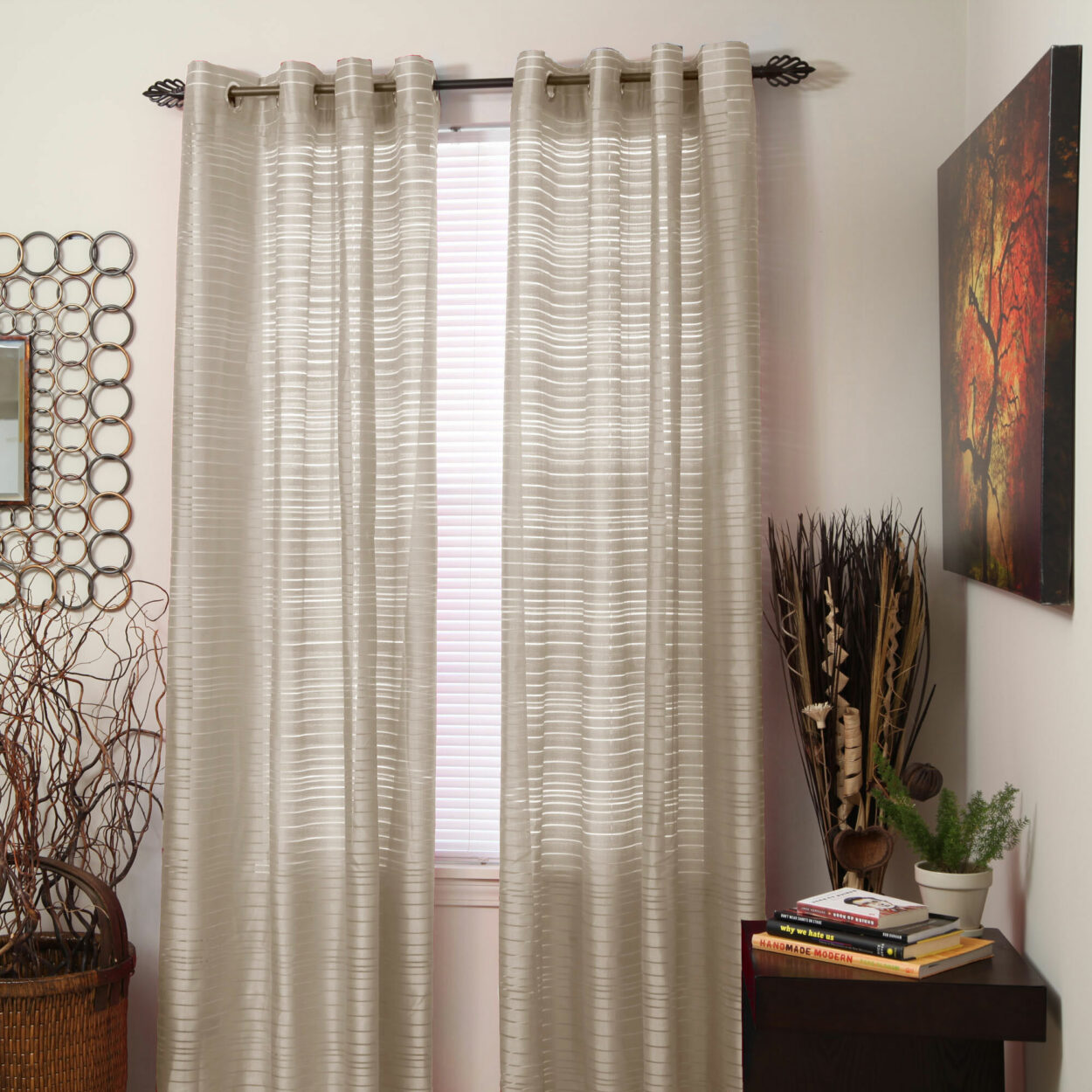 How to Hang Grommet Curtains With Sheers