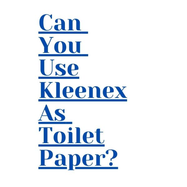 Can You Use Kleenex As Toilet Paper?
