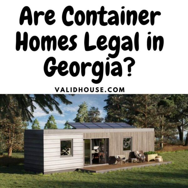 Are Container Homes Legal in Georgia